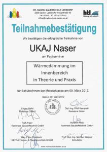 Weiterbildungen und Auszeichnungen- Malermeister Naki - Malerbetrieb im Raum Bruck an der Mur - Mürzzuschlag / Malerbetrieb in Hönigsberg