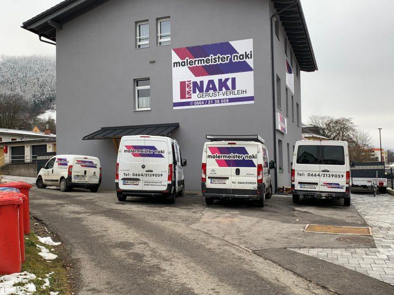 Firmenstandort - Malermeister Naki - Malerbetrieb im Raum Bruck an der Mur - Mürzzuschlag / Malerbetrieb in Hönigsberg